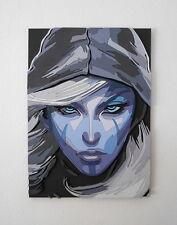 Handmade Drow Ranger, Dota 2 portrait, Drow Ranger wall art