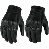 Bike Racing Glove Motorcycle Riding Protective Armor Short Leather Gloves M/L/XL