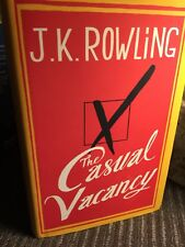 The Casual Vacancy Hardcover Book - First Edition - JK Rowling