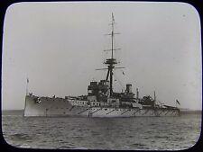 Glass Magic Lantern Slide HMS HERCULES C1910 NAVY PHOTO BATTLESHIP