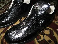 RARE Mauri Italy CUSTOM M725 Full Black Alligator Crocodile Eyes Sneaker Shoe 10