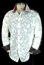 "Robert Graham ""Street Salsa"" NWT $398 White Limited Edition XL"