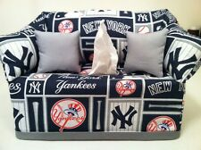 MLB New York Yankees Tissue Box Cover (Grey Pillows) Handmade