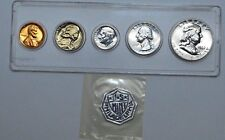 1962 P PROOF US Mint Set of 5 Silver Coin UNC in Hard Plastic Holder !!!