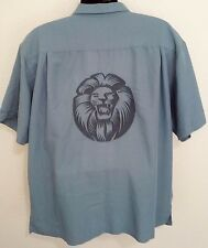 Weekender  Men's XL Limited Edition Embroidered Lion Button Front   D20
