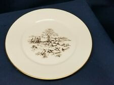 """Vintage Collector's Oxford Bone China Special Plate Lenox """"Hunting"""" Made in Usa"""