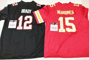 Tampa Bay Buccaneers #12 MVp & Kansas Chiefs #15 Autographed 2 Jersey + COA