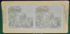 Antique Stereoview Card - No. 6 Sermon on the Mount - From The Passion Play