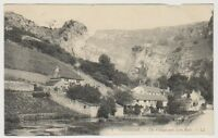 Somerset postcard - Cheddar - The Village and Lion Rock - LL No. 1 - P/U 1911