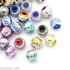 "100PCs Aluminium Charm Beads Round Mixed 9mm(3/8"")Dia"