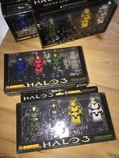 "2 x Kubrick / Halo - 3"" Figures Sets (x8 Figure Total) Medicom Toys / 2007."