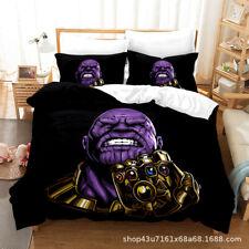 The Avengers Thanos Duvet Cover Comforter Cover Pillowcase Bedding Set 3PCS Gift