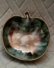 GORGEOUS DRYDEN of Arkansas APPLE SHAPED Dish Blues,  Greens & Blacks