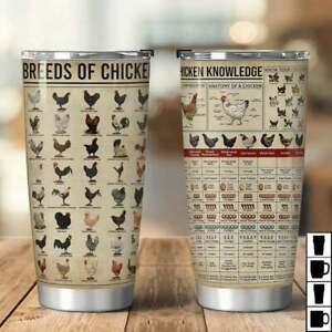 Breeds Of Chicken, Chicken Knowledge 20oz Stainless Steel Tumbler