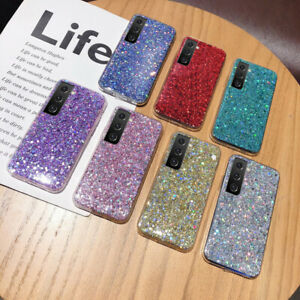 For Samsung S21 S20 A21S A41 A32 A52 Shockproof Glitter Soft Silicone Case Cover