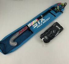 "STX Safari Field Hockey 30"" Stick Bag Goggles Shin Gaurds Beginner New Pink Blue"