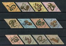 Portuguese Guinea Guine Portugal 1963 SNAKES ANIMALS complete set MNH, FVF