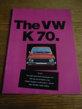 VW K70 CAR  BROCHURE