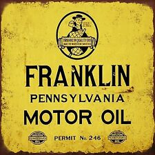Franklin Motor oil High Quality Metal Magnet 3 x 4 inches 9391