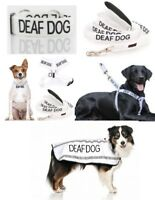 Colour Coded Dog Warning Awareness - DEAF DOG Harnesses Leads Collars Coats