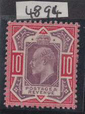 254b 10d Dull Purple & Carmine(OCP) M43 (-) P.O.fresh unmounted mint Hendon cert