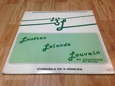 """DONALD LAUTREC - PIERRE LALONDE - MICHEL LOUVAIN LP """" Les 3 L """" Canada 1981'"""