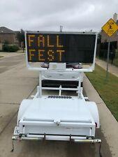 Radar Trailer And 2 Line Message Board Mph Industries Speed Monitor Full Matrix