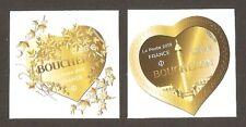 2019 Autoadhésifs 1669/1670 Saint Valentin COEURS DE BOUCHERON NEUFS**