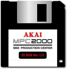 Akai MPC 2000 OS Ver. 1.72 Floppy Disk - FREE Overnight Shipping