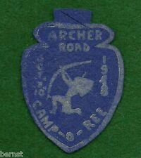 BOY SCOUT CAMPOREE PATCH - FELT - 1948 ARCHER ROAD