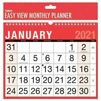 2021 A4 Easy Month To View Spiral Bound Wall Planner Calendar - Landscape 3802
