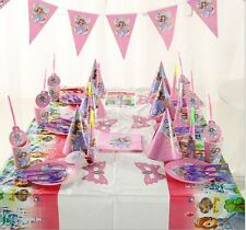 78pcs Kid's  Birthday Party Supply Pack Bundle Serve-Sofia choice for Girls