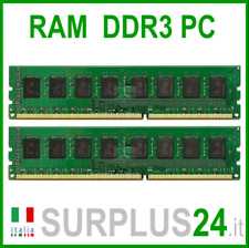 KIT RAM 8Gb (2x4Gb) PC3-12800U 1,5v 1600Mhz 240pin Memoria x DESKTOP No Ecc