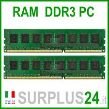 KIT RAM 8Gb (2x4Gb) PC3-12800U DDR3 1600Mhz 240pin Memoria x DESKTOP No Ecc