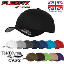 FlexFit Yupoong Fitted Baseball Cap Sports Sun Hat Retro Curved Peak 13 Colours