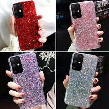 F Samsung Galaxy S20 Ultra Note 10 Plus Cute Bling Glitter Girl Women Case Cover