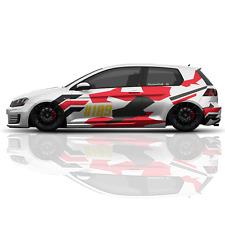 Auto Aufkleber Set Camouflage Flecktarn Stripes Abstrakt Style Tuning  + ZAhl