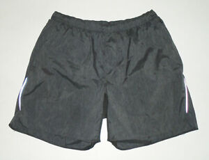 "LULULEMON 7"" SURGE Shorts GRAY Reflective Lined Running Yoga Vented Mens : XL"