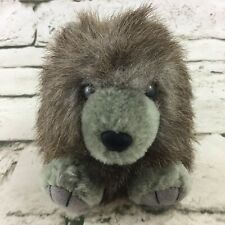 Vintage Swibco Puffkins Wolf Plush Round Hangable Stuffed Animal VTG 90's