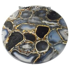 Agate Table Top, Agate Table, Stone Dining Table, Brow Agate Console Table,