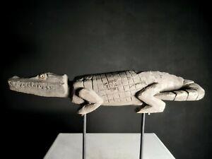 Old Spirit Crocodile Figure, Yamok Village, Papua New Guinea,Tribal Art, PNG