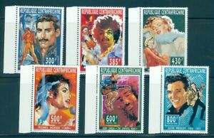 Central Africa 1094-1099 set/6 & 6 SS, Elvis, Hendrix, Monroe, Jackson, Mint NH