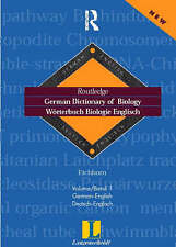 German Dictionary of Biology Vol 1: Worterbuch Biologie (German-English) (Routle