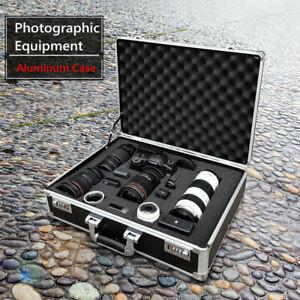 Professional Black Aluminum Hard Case with DIY Foam Drone Cameras Equipment Case