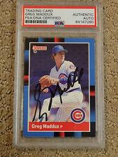 Greg Maddux 1988 Donruss Signed Baseball Card PSA DNA Slabbed Cubs HOF