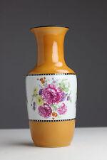 Alte Rosenthal Vase Rosenthale Blumen Orange Senffarben Selb - Bavaria