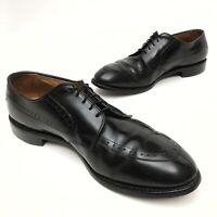 ✅💟✅@ Allen Edmonds Mens Kingsley Dress 10.5 D Black Leather Split Toe Oxford