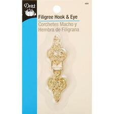 DRITZ FILIGREE HOOK & EYES - GOLD- USE IT IN CRAFTS TOO!!
