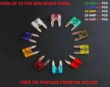 VAUXHALL CAR TOP QUALITY FUSES SET SMALL/MINI BLADE * 10 15 20 25 30 AMP *