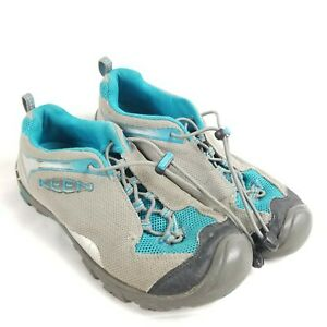 Keen Walking Hiking Closed Toe shoes US Womens 7, Youth 5, Gray Blue APX 0613